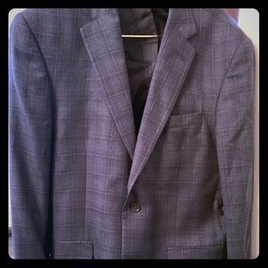Jos A Bank Sportcoat Navy woven plaid silk wool